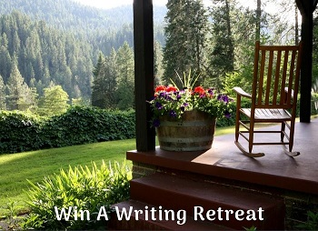 WIn a writing retreat
